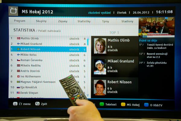 Aplikace HbbTV České televize
