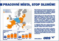 Inzerát ODS v sobotním Blesku, LN a MF Dnes