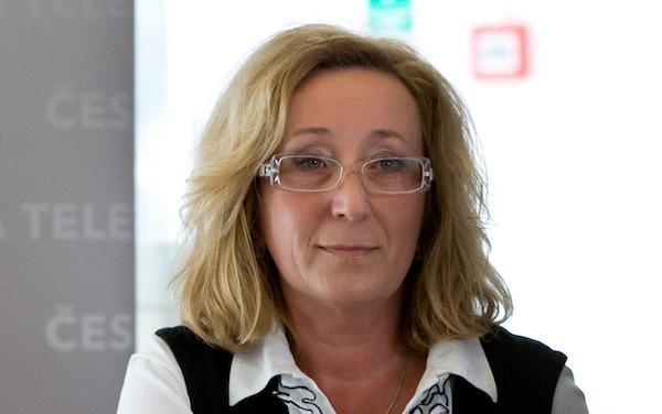 Jana Kasalová při prvním setkání s novináři, 7. března 2012 na Kavčích horách. Foto: ČT