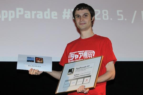 Kromě ocenění od hlasujících si odnese též iPad věnovaný společností BlackLex. Foto: Tomáš Pánek