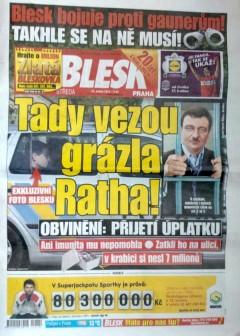 Titulní strana Blesku ze 16. května