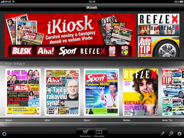 Aplikace Ringieru iKiosk pro iPad