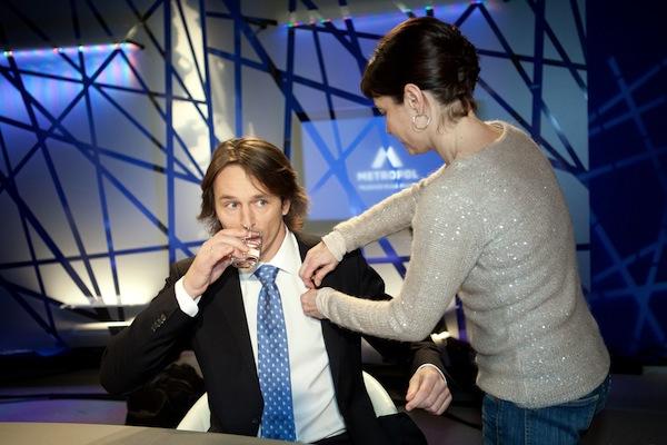 Edvard Kožušník se nechal zvěčnit jako špičkový televizní moderátor. Foto: TV Metropol