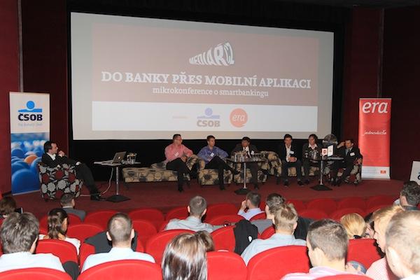 Mikrokonference Médiáře Do banky přes mobilní aplikaci, kino Atlas. Foto: Tomáš Pánek