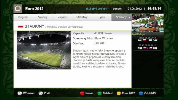 Česká televize uvádí letos už druhou aplikaci na platformě HbbTV: první byla k hokeji, druhá k fotbalu