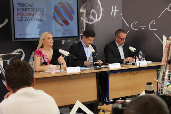 Programová ředitelka Alex Ruzek, šéf Novy Jan Andruško a ředitel internetu Pavel Krbec. Foto: Linda Matásková