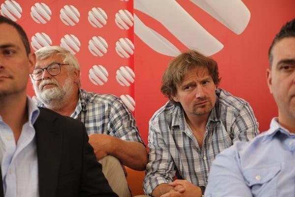 Josef Klíma a Janek Kroupa ještě jako protagonisté Na vlastní oči, v létě 2012. Foto: Linda Matásková