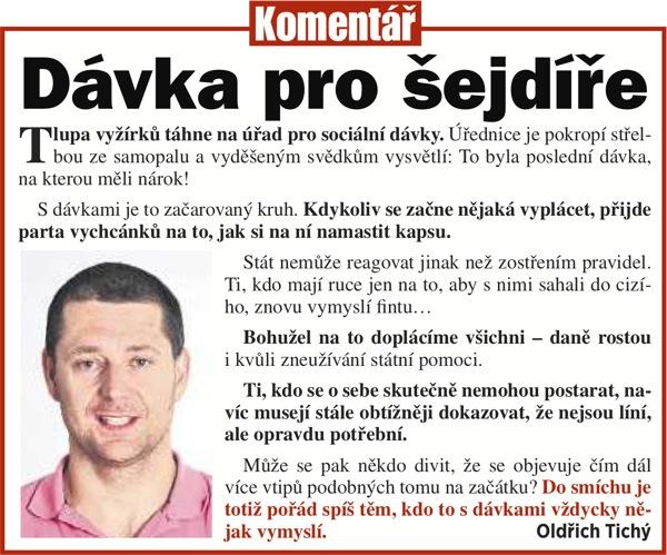 Oldřich Tichý, Blesk: Dávka pro šejdíře