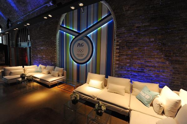 Interiér olympijského domu Procter & Gamble