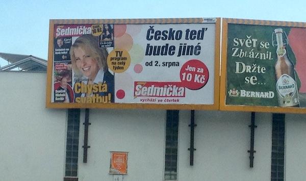 Uvedení nové podoby Sedmičky provází masivní reklamní kampaň. Repro: Jan Ráček, Facebook