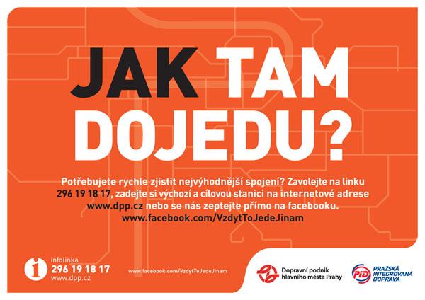 Informační kampaň DPP ke změnám v pražské dopravě od agentury Cream Prague