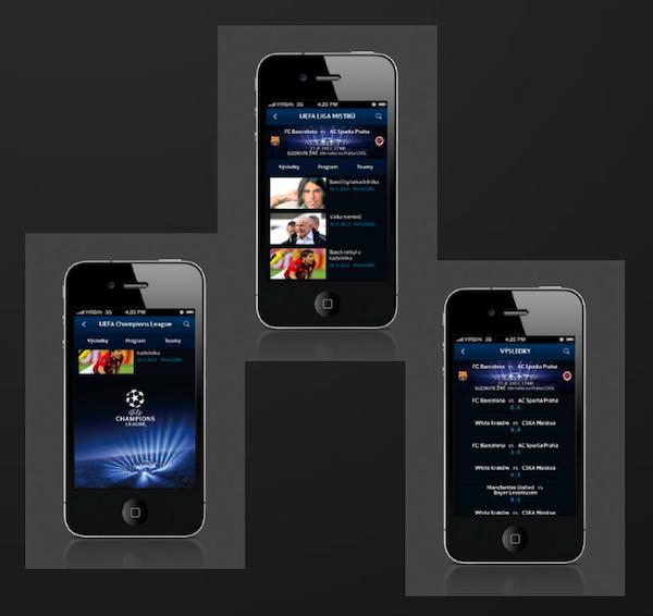 Liga mistrů: mobilní aplikace