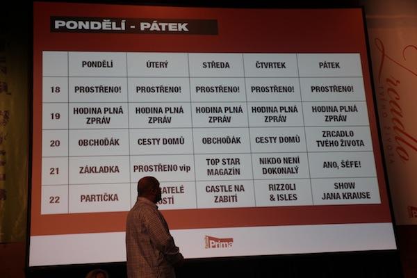 Podzimní programové schéma televize Prima family. V popředí programový šéf Petr Vladyka. Foto: Linda Matásková