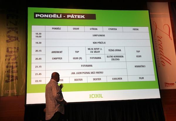 Programové schéma všedních dní na Primě Cool. Foto: Linda Matásková