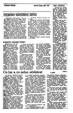 První strana prvního vydání LN, září 1987. Repro: LN
