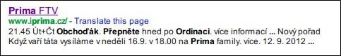 Přepněte hned po Ordinaci, využívá Prima konkurenci na svém webu