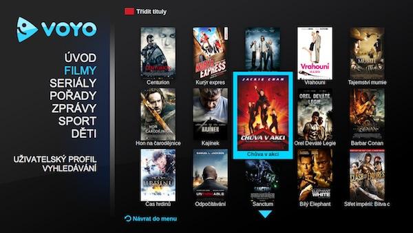 Aplikace Voyo pro platformu Panasonic Viera Connect