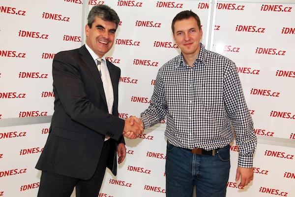 Johannes Werle (vlevo) a Pavel Matoušek. Foto: Dan Materna, MF Dnes