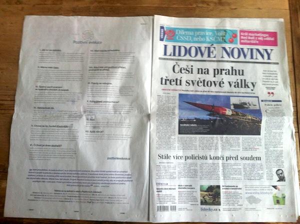 Janečkova kampaň v deníku Lidové noviny