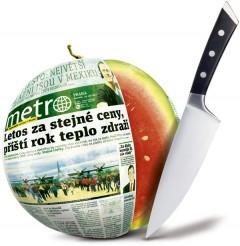 Milionovou distribuční vlnu Metro propaguje obligátním melounem