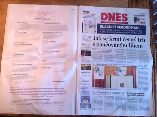 Janečkova kampaň v denících skupiny Mafra