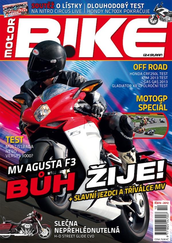 Titulní strana prvního čísla časopisu Motorbike