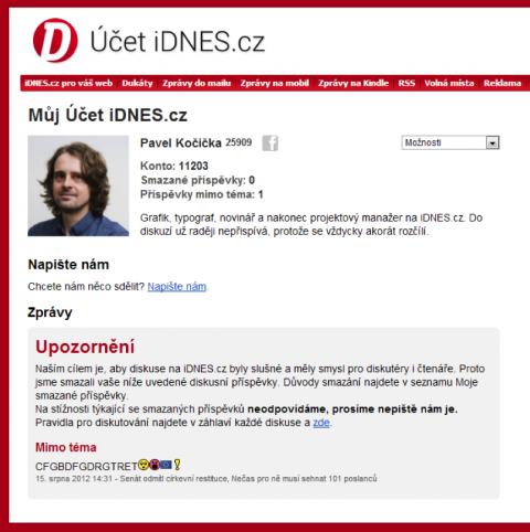 Nová podoba diskusního modulu na iDnes.cz