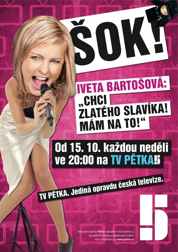 Inzerát Pětky s Ivetou Bartošovou