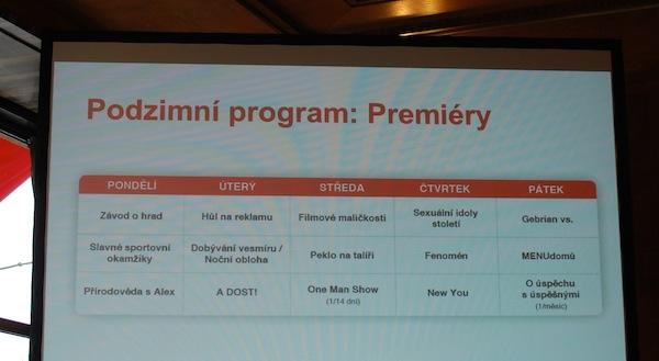 Podzimní programové schéma Seznamu