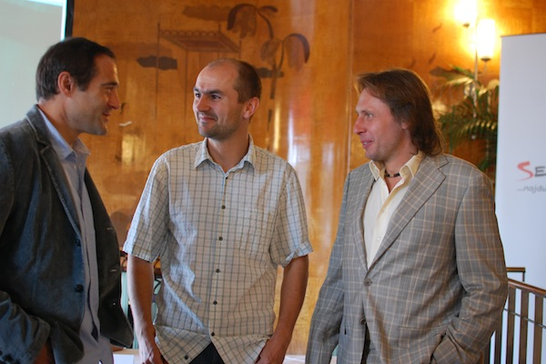 Zuna, Zima, Tuna. Hlavní tváře dnešní tiskové konference Seznamu