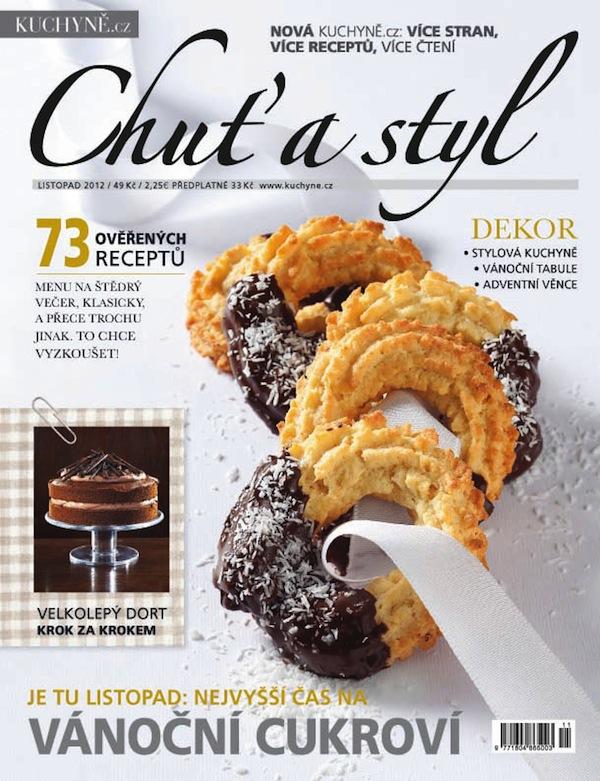 Obálka prvního čísla časopisu Chuť a styl