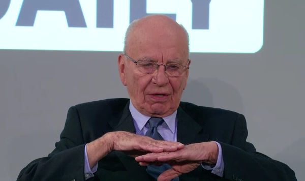 Ambice jsou vysoké, náklady nízké, tvrdil v únoru 2011 Rupert Murdoch. Cílová skupina? Everybody. Repro: the daily.com