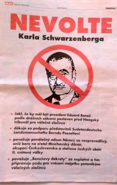 Inzerát Vladimíra Zavadila v pátečním Blesku, na straně 9