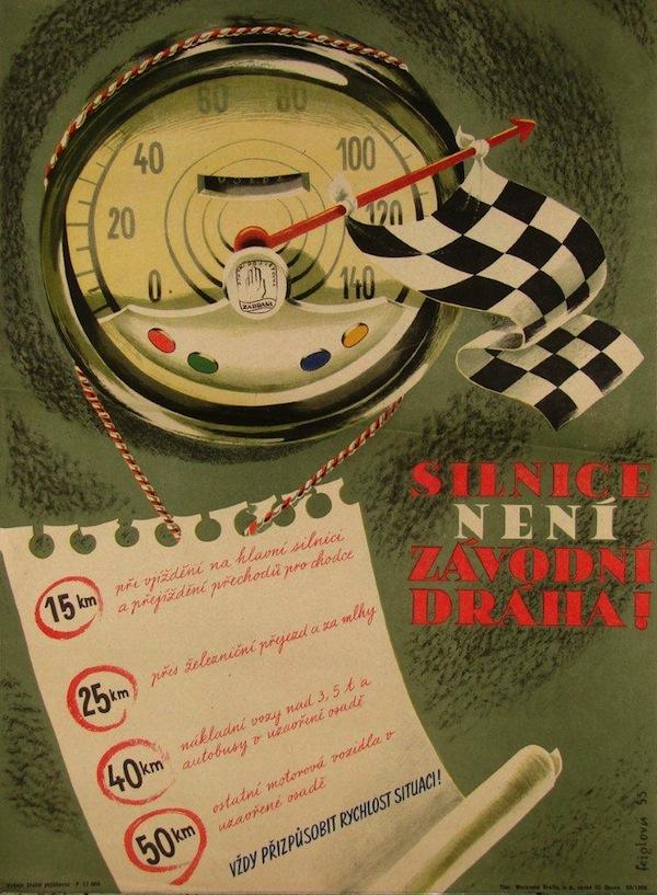 Silnice není závodní dráha (1955). Pojištění motorových vozidel, Československá pojišťovna