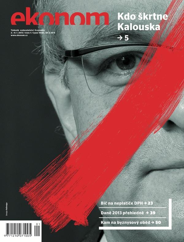 Nová podoba titulní strany Ekonomu od studia ReDesign