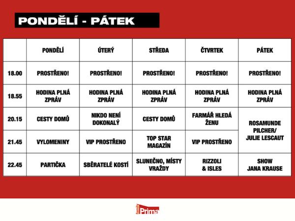 Programové schéma Prima Family pro jaro 2013