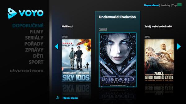 Aplikace videotéky Voyo pro chytré televizory LG