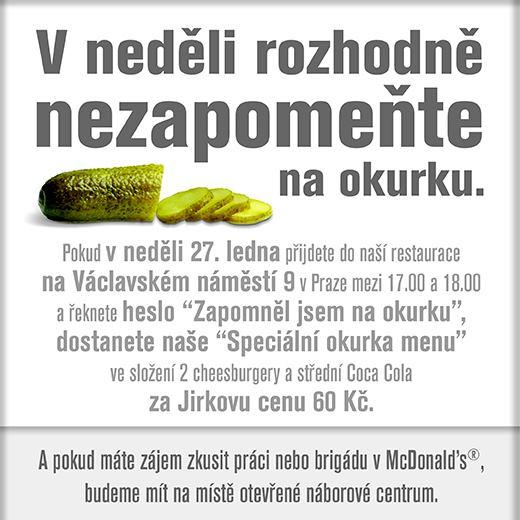 Inzerát McDonald's pracoval s motivy z videa
