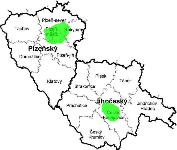 Pokrytí digitálním signálem operátora RTI cz