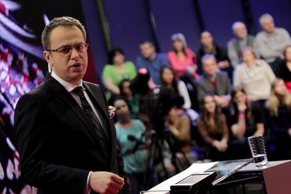 Václav Moravec loni jako nejsledovanější průvodce přímou prezidentskou volbou. Foto: Profimedia.cz, MF Dnes + LN