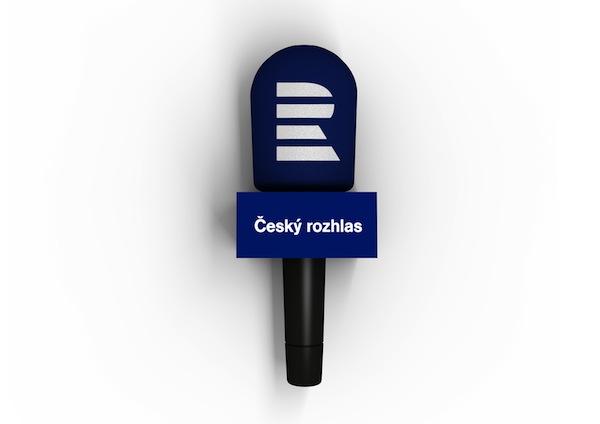 Logo Českého rozhlasu užité na mikrofonech