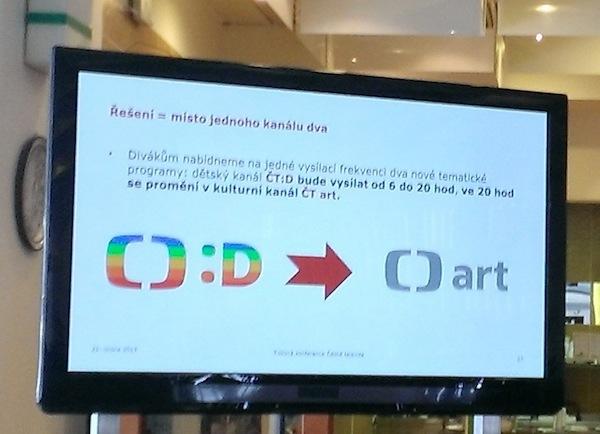 Dětské vysílání ČT bude sdílet kmitočty s kulturním programem ČT Art