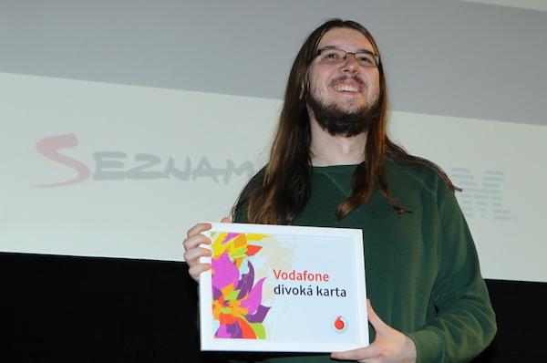 Jan Gruncl si z AppParade odnesl cenu Divoká karta Vodafonu, už podruhé. Foto: Tomáš Pánek