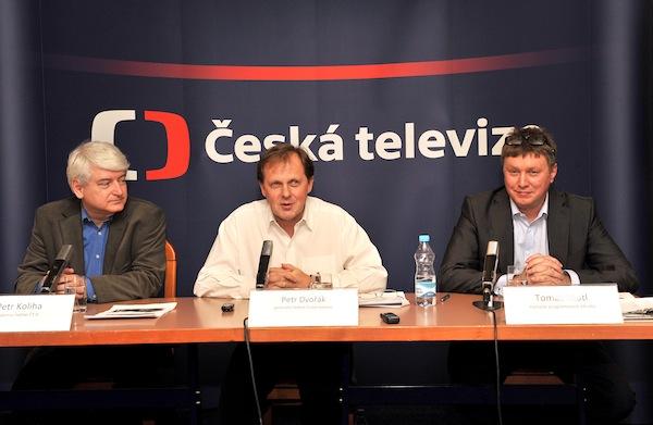 Petr Koliha, Petr Dvořák, Tomáš Motl. Foto: ČT