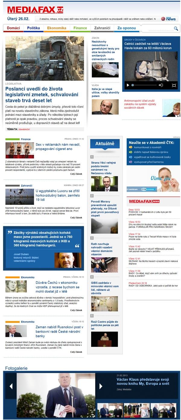 Nový web Mediafaxu