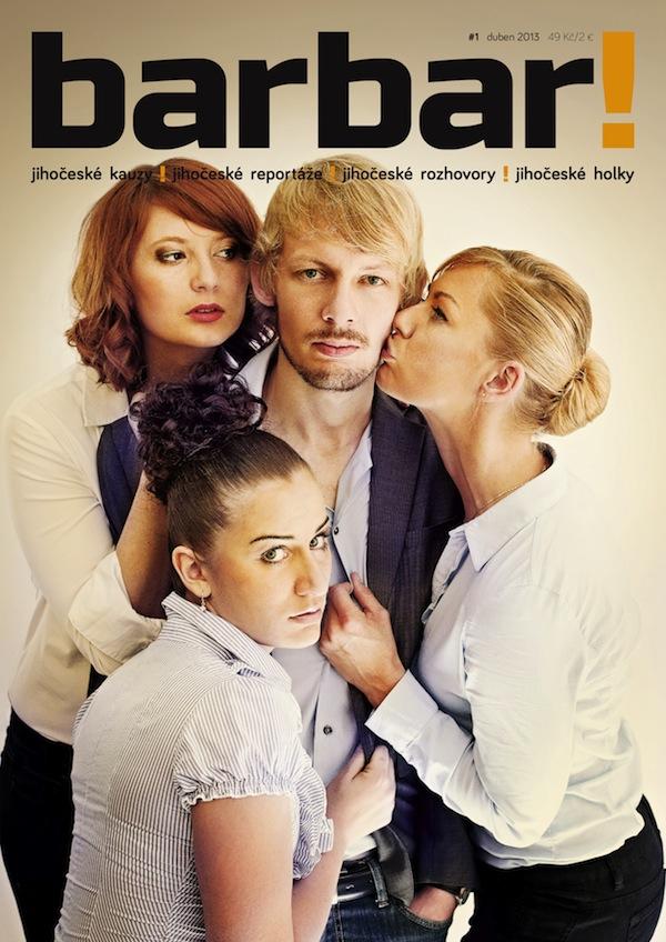 Titulní strana časopisu Barbar
