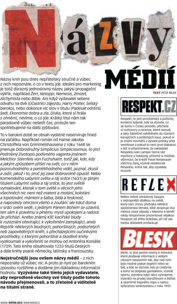 Názvy médií