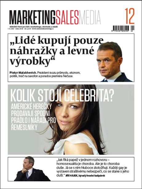 Ukázková titulní strana  . Zdroj: Empresa Media