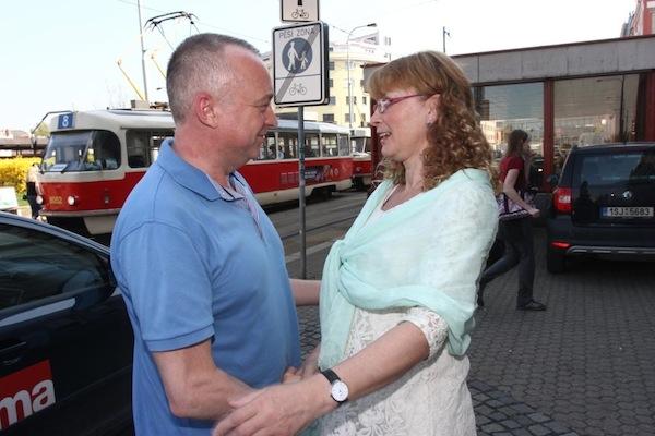 Karel Voříšek a Jitka Obzinová. Foto: TV Prima