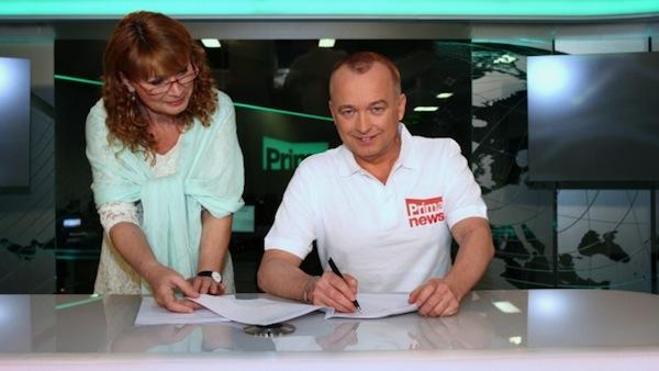 Jitka Obzinová a Karel Voříšek. Foto: Prima Style